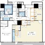 全室8帖以上の2LDK。収納スペースが豊富です。2階エントランスと同じ階だからエレベーター待ちがありません。(間取)