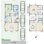 浦安市今川2丁目 三井ホーム施工の一戸建てです。駐車スペース3台。(間取)