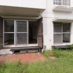 専用庭付き住戸。外水栓が付いています。